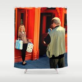 Gotta Thing For Orange Shower Curtain