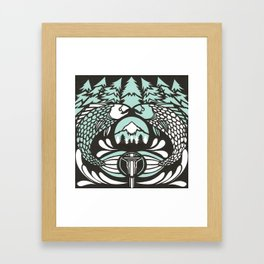 Astrology Northwest: Pisces Framed Art Print