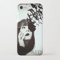 bats iPhone & iPod Cases featuring Bats by Nuria Mrtz. FotoArt