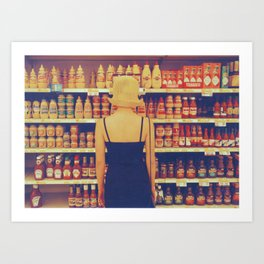 Fake Hair at the Grocery Store Art Print