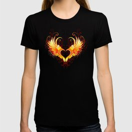Angel Fire Heart with Wings T-shirt