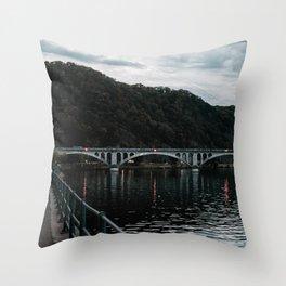 Sunset Brigde Europe Throw Pillow
