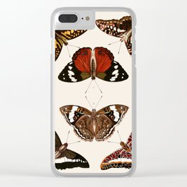 Vintage Butterfly Chart III Clear iPhone Case