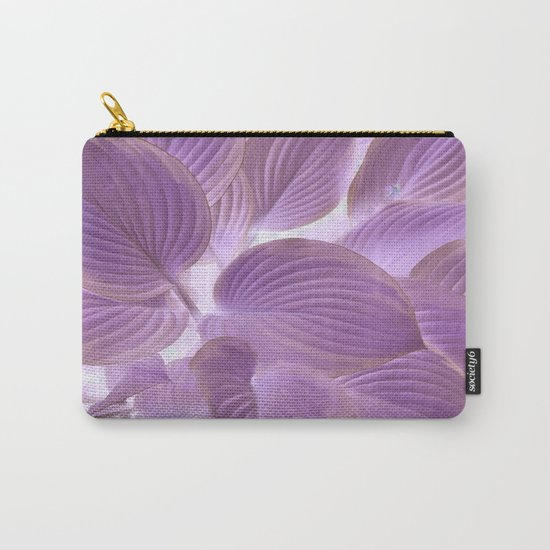 Flower   Flowers   Lavender Purple Glowing Hosta Carry-All Pouch