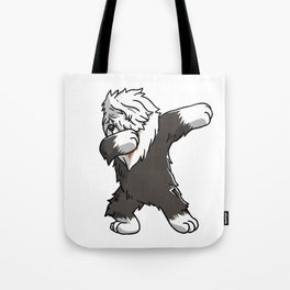Funny Dabbing Old English Sheepdog Dog Dab Dance Tote Bag