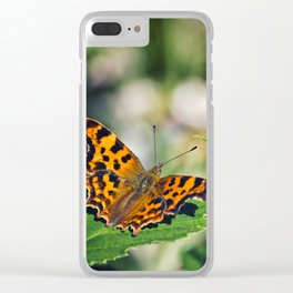 Comma Butterfly Clear iPhone Case