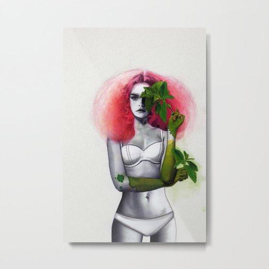 Garden Girls 3 - Mint Metal Print
