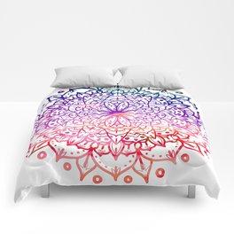 INTENSE SUNSET MANDALA Comforters