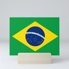 Brazil flag - Brazilian Flag Mini Art Print