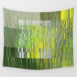Green Lines Wall Tapestry