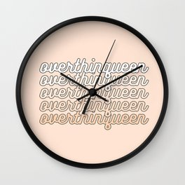 the queen of overthinking Wall Clock
