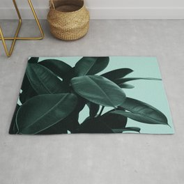 Dark Green Ficus Rug