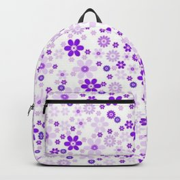 Soft Purple White Pattern Vecto Backpack