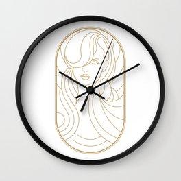 Girl Art Deco 09 Wall Clock