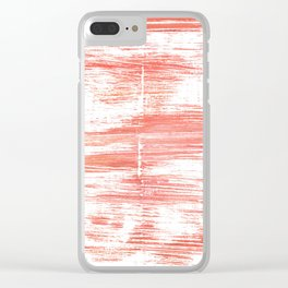 Light salmon pink abstract watercolor Clear iPhone Case