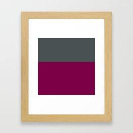 Grey and purple Framed Art Print