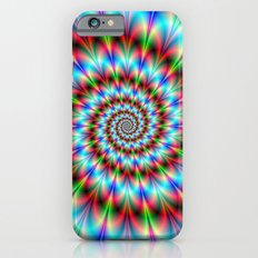 Spiral Rosette in Blue Green and Red Slim Case iPhone 6s