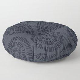 NAVY RANDOM CIRCLES Floor Pillow