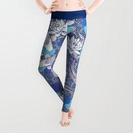 Blue Koi Ripples Leggings