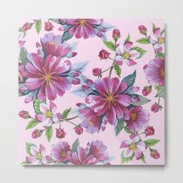 Apple Blossom Pattern 02 Metal Print