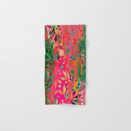 Tropical Summer colorful botanical pattern Hand & Bath Towel