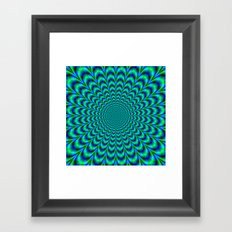 Pulse in Blue and Green Framed Art Print