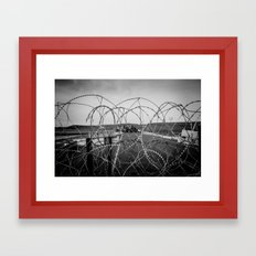 standing rock blockade Framed Art Print