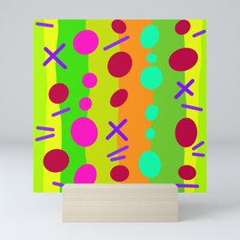 Party Time / Green Mini Art Print
