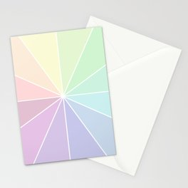 Pastels Summer Rainbow Stationery Cards