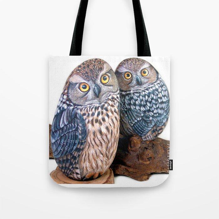 Owl stones Tote Bag