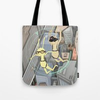 backpack Tote Bags featuring TRIZ Extended [collap w Sweet Aleksandra] by PAUL PiERROt