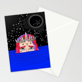 new moon in virgo Stationery Cards