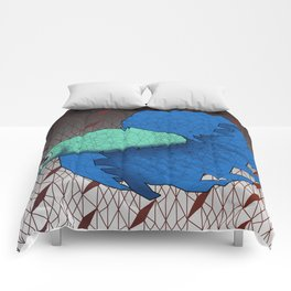 Beta Fish - Panel B Comforters