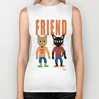 best friend Biker Tanks featuring Friend by BATKEI