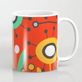 Mid-century modern flowers Coffee Mug