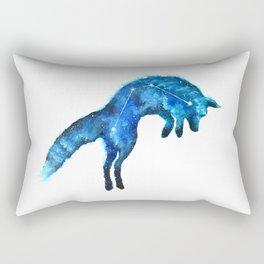 Space Fox   Fox Constellation   Leaping Fox   Double Exposure Fox Rectangular Pillow