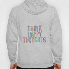 Think Happy Thoughts, Nursery Wall Art Kids Room, Nursery Printables, Baby Girl Nursery Wall Art Hoody