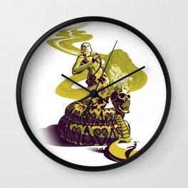 SnakeWoman and Demon-Skull Bong Wall Clock