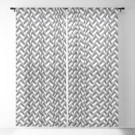 Grey weaving pattern Sheer Curtain
