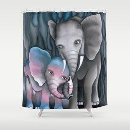 Elephant Love 2 Shower Curtain