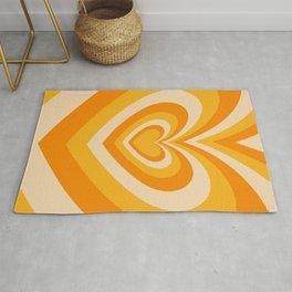Kaleidoscope of Beating Hearts (yellow + orange + beige, x 2021) Rug