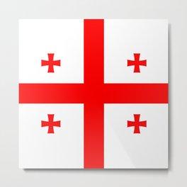 Flag Of The Country Of Georgia Metal Print