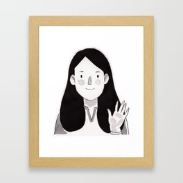Hi there! Framed Art Print