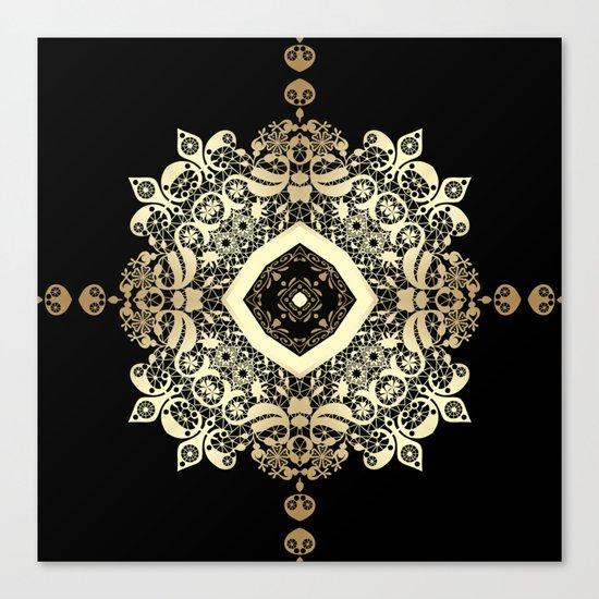 Golden Eastern ornament . Canvas Print