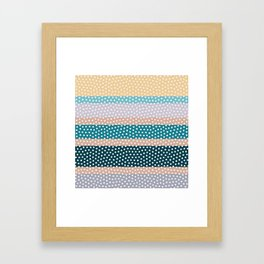Dots and Stripes Framed Art Print