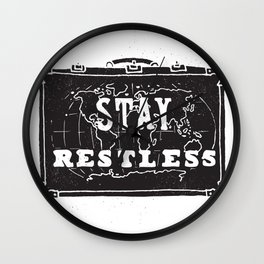 Stay Restless... Wall Clock