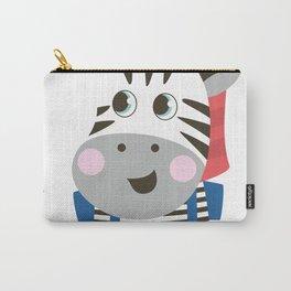 cute cartoon Zebra for kids Carry-All Pouch