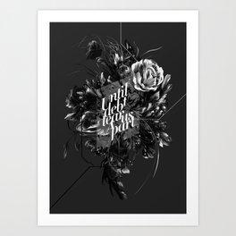 until debt tear us apart Art Print