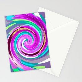 Purple twirl Stationery Cards
