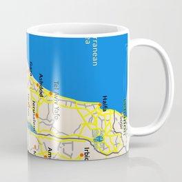 Israel Map design Coffee Mug